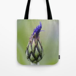 Mountain Cornflower Bud No.2 Tote Bag
