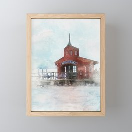 Seneca Lake Pier, Watkins Glen, NY Framed Mini Art Print
