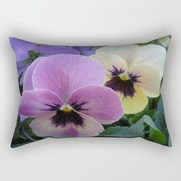 Pretty Pansies Rectangular Pillow