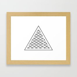 All seeing eyes Framed Art Print