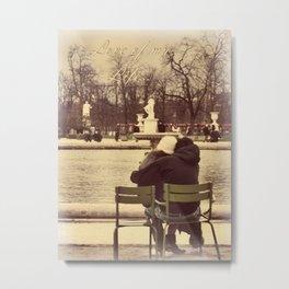 Love of My Life - I Love You More Than Paris Series Metal Print