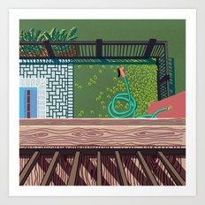 Backyard Art Print Art Print