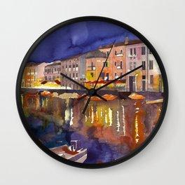 Night in Venice part 1 Wall Clock