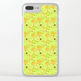 Let's 'Avo Toast - Yellow Clear iPhone Case