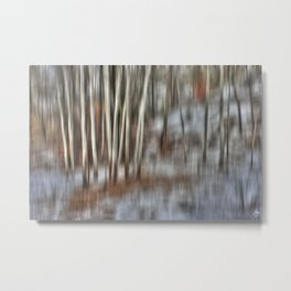 Poplar Cluster in the Wind Metal Print