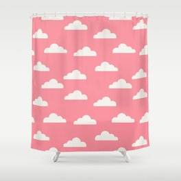 Clouds Pink Shower Curtain