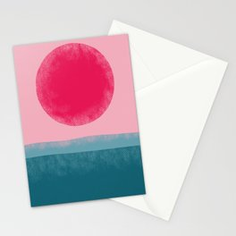Pink Sun Stationery Cards