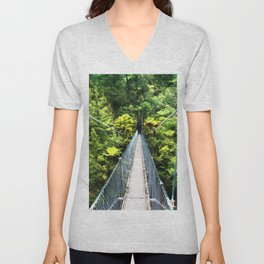 Is this your real path? The Bridge in Wild Rainforest Unisex V-Neck