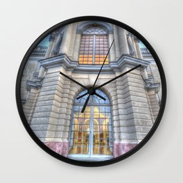 Charlottenburg schloss window Wall Clock