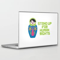 putin Laptop & iPad Skins featuring Stand for Human Rights—Male Nesting Doll by christopher jagmin