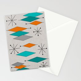Mid-Century Modern Diamond Pattern Stationery Cards