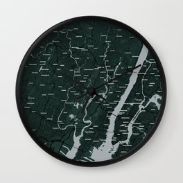FanMap   NFL New York (NYJ) #02 Wall Clock