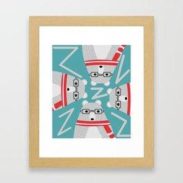 Bear circle Framed Art Print