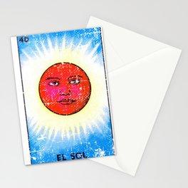 El Sol Mexican Loteria Bingo Card Stationery Cards