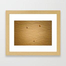traces dans le sable Framed Art Print