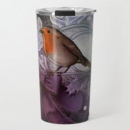 Christmas Robin Travel Mug