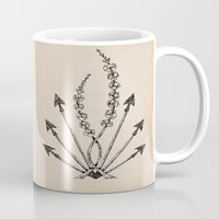 katniss Mugs featuring Katniss Plant by Meghan Hill