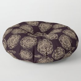 Pattern with roses 2 Floor Pillow