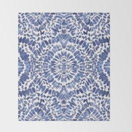 Abstract Indigo Pattern No.1 Throw Blanket