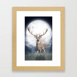 Midnight Deer Framed Art Print