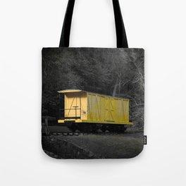 Eleutherian Mills Yellow Boxcar Powder Keg Transport Vintage Rolling Stock Tote Bag