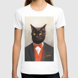 Chic Black Cat T-shirt