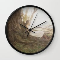chill Wall Clocks featuring Chill by Kristine Ridley