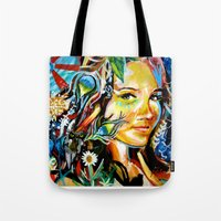 cassandra jean Tote Bags featuring Cassandra by Phil Fung