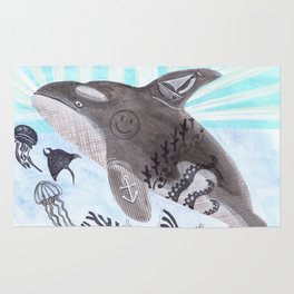 Killer Whale Ishmael Rug