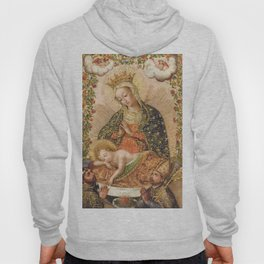 The Virgin Adoring the Christ Child with Two Saints Hoody