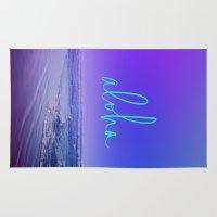 aloha Area & Throw Rugs featuring Aloha by Leah Flores