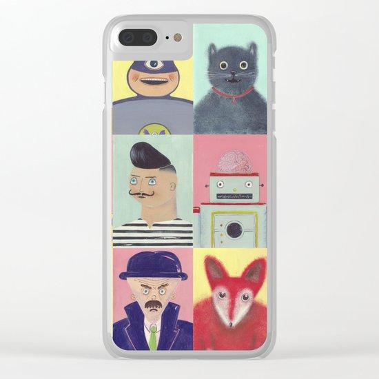 bobbies friends Clear iPhone Case