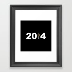 2014-NY-Black Framed Art Print