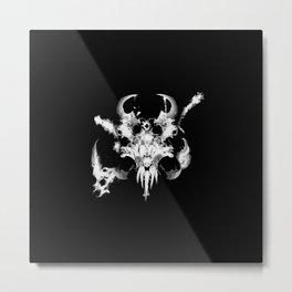 Reaper Skull Metal Print
