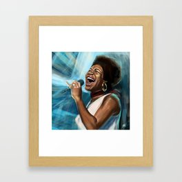 Aretha Franklin Still Sings Framed Art Print