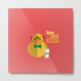 duck nerd power Metal Print