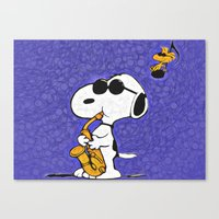 snoopy Canvas Prints featuring Snoopy by DisPrints