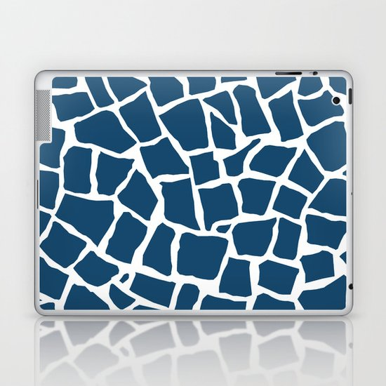 Mosaic Zoom Navy Laptop & iPad Skin