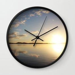 Glaring Sun Wall Clock