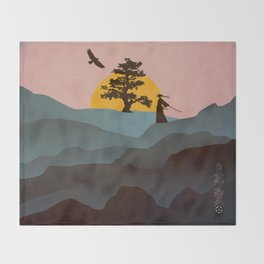 Nature Love Of A Peacful Warrior Throw Blanket