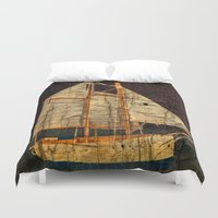 sailboat Duvet Covers featuring Rustic Sailboat by Michael Moriarty Photography