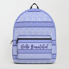 Hello Beautiful Poodle Illustration Backpack Backpack