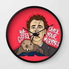 Check Your Mirrors Wall Clock