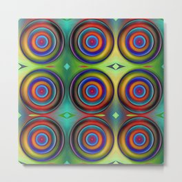 Multicolored Pattern Circles 1 Metal Print