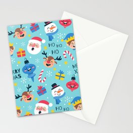 Funny Christmas Pattern Stationery Cards