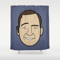 lawyer Shower Curtains featuring Faces of Breaking Bad: Saul Goodman by Rob Barrett — Nice Hot Cuppa