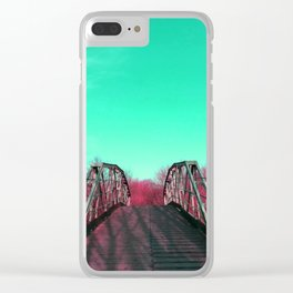 Dreamscape to the unknown Clear iPhone Case