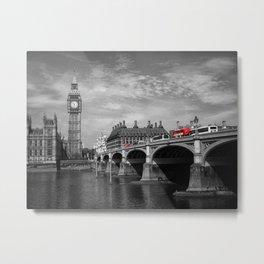 Westminster Bridge and Big Ben Metal Print