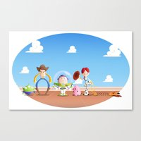 toy story Canvas Prints featuring TOY STORY by Ana Xoch Guillén