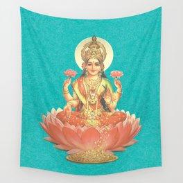 Lakshmi, Goddess of Love (Turquoise) Wall Tapestry